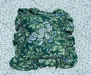*RARE 1 LAURA ASHLEY Bramble Berry *Decorative RUFFLE Pillow Floral Vintage EUC