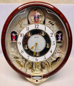 Seiko QXM109ZRH Melodies In Motion Beatles Hi-Fi Sound Wall Clock Mint Cond