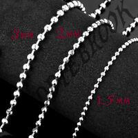 Ball chain necklace 1.5mm, 2mm, 3mm 50cm - 90cm long short thick thin ballchain