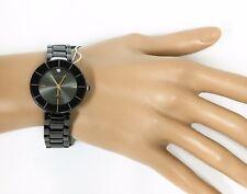 ANNE KLEIN BLACK TONE,ROSE GOLD+DIAMOND ACCENT BRACELET WATCH AK/2061