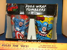 Marvel Comics Set of 2 Captain America 16 oz Glasses