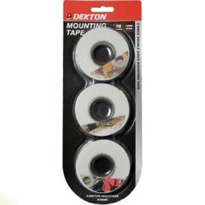 Dekton 3 Rolls Mounting Tape Double Sided  Sticky Adhesive Foam 2m x 18 mm UK
