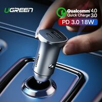 Ugreen Quick Charge 4.0 3.0 QC USB Car Charger Type C PD Car Charging Adapter