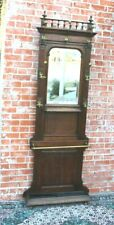 New listing French Antique Oak Henry Ii Hall Tree Stand Hat Rack w Mirror