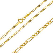 Goldkette Halskette Figarokette Figaro Kette Collier 333 8KT 45cm