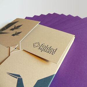 Violet Origami Paper   100 Sheets, 15cm Square   Pantone 2607