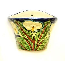 Mexican Pottery Talavera Wall Planter, Lily Flower-7