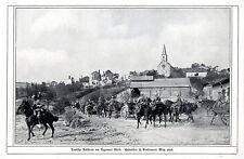 Deutsche Artillerie am Argonner Wald Historische Aufnahme von 1914 * WW 1