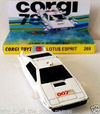 Corgi Toys 269 JAMES BOND 007 LOTUS ESPRIT Diecast Model Car & Custom Display [a