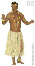 faldas ( HAWAI ) hombre falda de ESTOPA largo, Natural Paja 80 cm, 3372