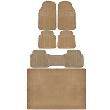 SUV Truck Floor Mats Front Rear Trunk Beige All Weather Protection Premium BDK