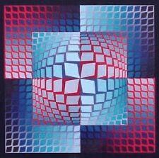 Victor Vasarely Lithograph Quasar Zett 1965