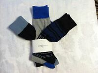 COLE HAAN MENS NEW BLACK/GRAY 60%POLYESTER 30%NYLON 3PACK DRESS SOCKS ONE SIZE