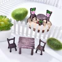 Miniature Fairy Garden Ornament Decor Pots Craft Accessories Dollhouse DIY Set