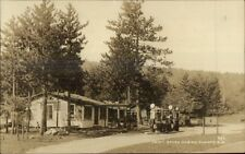 Conway Nh Swift Brook Cabins & Gas Station c1930 Real Photo Postcard dcn