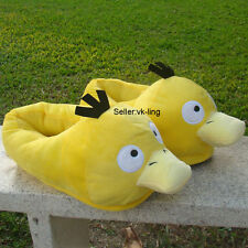 "Pokemon Go Plush Stuffed Slippers Psyduck 11"" Shoes Cloth Cuddly Doll Nintendo"