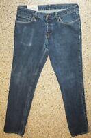 THE HOLLISTER Button Fly  Slim Straight Mens Blue Cotton Jeans Sz 32W x 34L