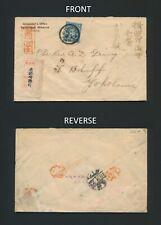 1907 JAPAN COVER EPISCOPAL MISSION KYOTO, 10s REGISTERED TO REV. GRING YOKOHAMA