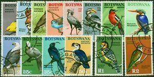 Botswana 1967 Birds Set of 14 SG220-233 Very Fine Used