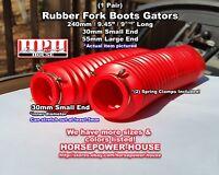 30mm Rubber Fork Boots Gators Gaiters @ 60s 70s MONTESA BULTACO CZ HUSKY JAWA