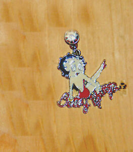 betty boop red dress phone charm dust plug sitting on her Name