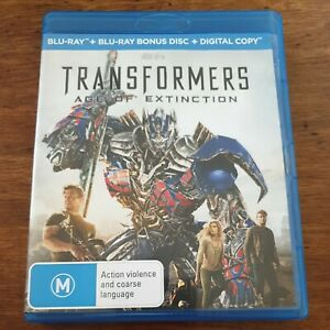 Transformers Age of Extinction Bluray VERY GOOD - FREE POST