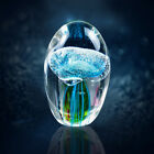 Jellyfish Crystal Glass Jellyfish Paperweight Sea Creatures Blue jellyfish DIY