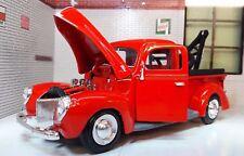 G LGB 1:24 ESCALA 1940 Ford Wrecker Desglose Camión MOTORMAX modelo fundido
