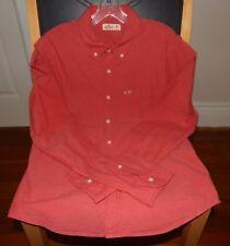 Hollister Men's Red Long Sleeve Button Down Shirt - Size M