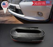 "1.3"" Carbon Fiber Look EZ Fit Bumper Lip Splitter Chin Splitter For Mazda Subaru"