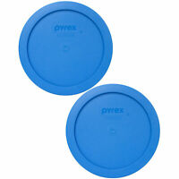 Pyrex 7201-PC Marine Blue Plastic Storage Replacement Lid Cover (2-Pack)