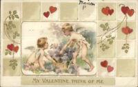 Valentine - Winsch Cherubs & Hearts c1910 Postcard