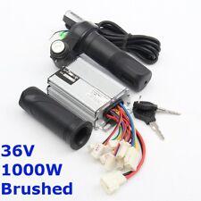 36V 1000W Electric Bike Scooter Motor Controller Brushed + Throttle Twist Grips
