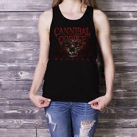 Cannibal Corpse Women Black Tank Top Metal Band Grind Core Fan Singlet XS-XXL 6