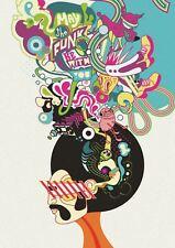 Retro Hippy Funk impresión arte cartel de hombre de 70S A3 GZ1789 tamaño de la imagen