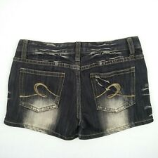 Rust Jeans - Black Faded Stretch Denim Mini Short Shorts Women's Size 8 W27