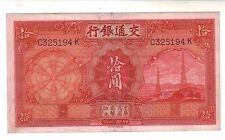 Cina  China 10 yuan 1935  BB/Spl  VF/XF   Pick 155  lotto  2101