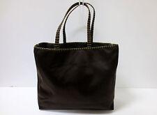 PRADA Dark Brown Satin Tote Evening Bag Handbag TRIPLE MINT CONDITION