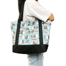 We Bare Bears Handbag Shoulder Bags Fashion Women PU Leather Shopping Totes Gift