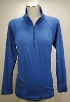 Patagonia Capilene Womens Half Zip Base Layer Top Medium Blue Midweight Pullover
