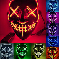LED Light Up Mask Party Mask The Purge election year Halloween Party Cosplay  US