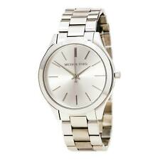 Reloj para mujeres Michael Kors pista Cuarzo Dial de tono Plata Pulsera De Acero Inoxidable MK3178