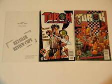 1 TUROK: THE EMPTY SOULS RETAILER REVIEW COPY + REG + 3 Acclaim Valiant 1996-98
