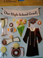 NEW 13 pc GRADUATION STICKER MEDLEY High School Cap Gown Diploma Ring K & CO