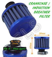 UNIVERSAL OIL MINI BREATHER AIR FILTER FUEL CRANKCASE UN1109-15 BLUE-FITS Nissan
