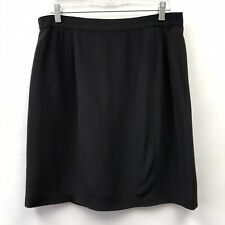 Due Per Due Size 12 Skirt Silk Lined Black