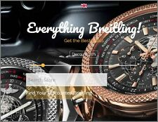 "BREITLING WATCHES Website Business Make £1,050.00 A SALE ""9000 Visitors a Month"""
