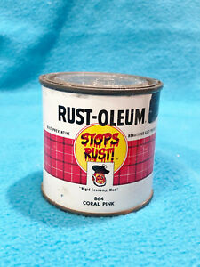 VNTG 1959 RUST-OLEUM PAINT CAN - CORAL PINK 864 - 1/2 PINT  UNOPEN - COLLECTORS