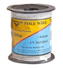 200M WHITE POLY WIRE- Thunderbird Electric Fencing Wire RRP $27.50