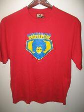 Super Guitar Barking Dog Musician Afro Artist Urban Fashion Music Red T Shirt Lg
